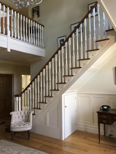 Cut and mitred stairs